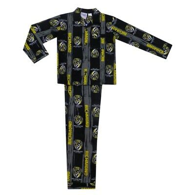 Richmond Tigers Official AFL Youth Winter Pyjamas BNWT