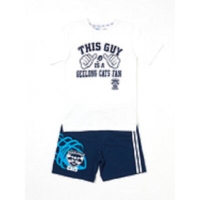 Geelong Cats Official AFL Summer Youth Pyjamas Cotton Boxers TShirt