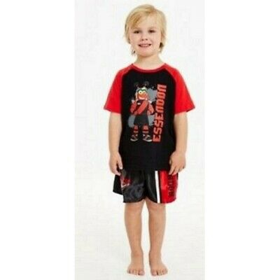 Essendon Bombers Official AFL Summer Pyjamas Satin Boxers Tshirt