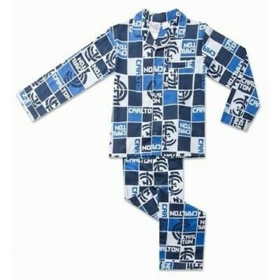 Carlton Blues Official AFL Winter Toddler Pyjamas BNWT