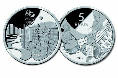 Brazil 2016 Rio Summer Olympics set of 16 silver coins
