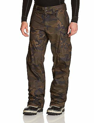 B.snowboards Mb Covert Pantalon Homme Lowland Camo FR : XS (Taille Fabricant...