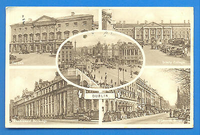 Dublin.multi View Postcard Posted 1949