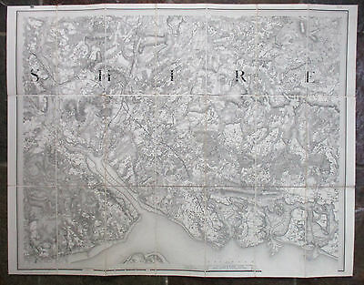 Early OS map Portsmouth Winchester Southampton 1845