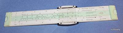 1971 slide rule  DDR east germany FEUTRON rare  slide rule CLIMATE - & HUMIDITY