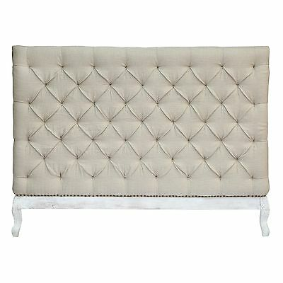 Chesterfield Queen Bedhead | Tufted Linen Headboard |French Provincial |RRP $749