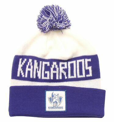db7aaafd1ff AFL NORTH MELBOURNE Kangaroos Traditional Bar Beanie - Brand New ...