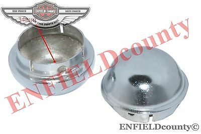 Axle Hub Nut Cap Cover Pair Steel 8'' Wheel Vespa Old Models Front & Rear @cad