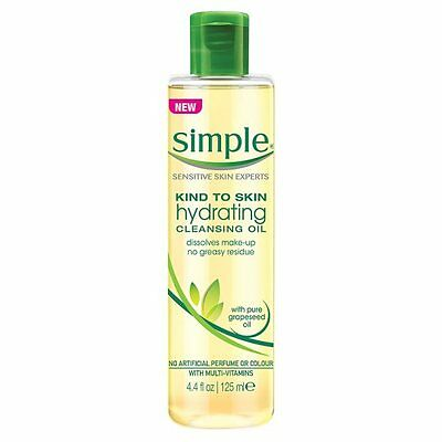 New Simple Kind To Skin Hydrating Cleansing Natural Make-Up Remover Oil 125 ml