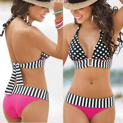 Women Swimwear Push-Up Bikini Set Bandeau Padded Bra Swimsuit Beachwear Nice