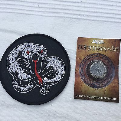 Official White snake sew on patch and Pin badge.