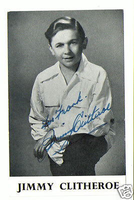 Jimmy Clitheroe. Comic Entertainer. Hand Signed Autograph Photo card