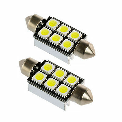 2x Soffitte CanBus 6 SMD 5050 LED Sofitte c5w 36mm xenon Innenraumbeleuctung.