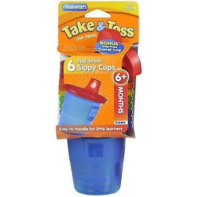 Take & Toss Spill-Proof Sippy Cups BPA-Free - 7 oz 6 pack