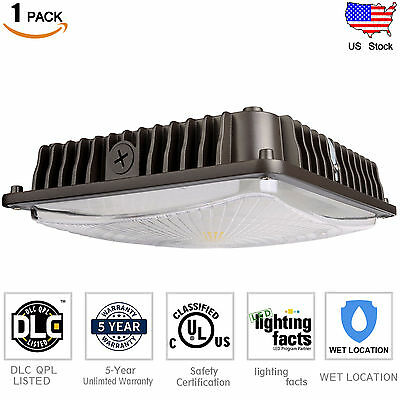 70W LED Canopy Light Outdoor Waterproof MH/HPS/HID Replacement 5000K Daylight