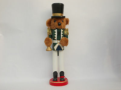 "**clearance Sale** 15"" Teddy Bear With Bugle Nutcracker Decoration Free Uk Post"