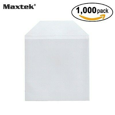 Maxtek 1,000 Pieces Clear Transparent CPP Plastic CD DVD Sleeves Envelope