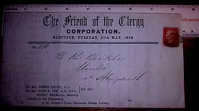 Large ecclesiastical church clergy election flyer 1d stars Southwark cancel 1856