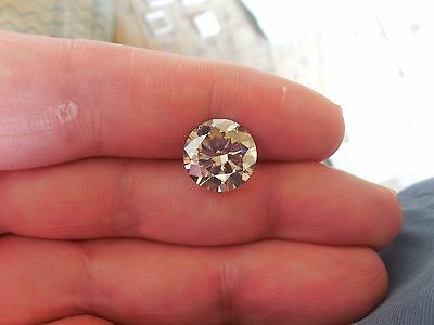 4.94 CT VS1 11.35 mm Fiery Gray Color Round Cut Diamond Shape Loose Moissanite