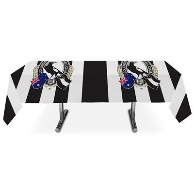 Collingwood Magpies Official AFL Plastic Tablecloth Table Cover Free Postage
