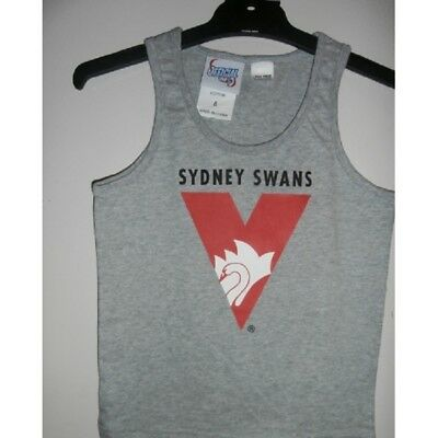 Sydney Swans Official AFL Boys Cotton Underwear Singlet FREE POSTAGE