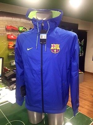 Giacca Vento Calcio Jacket Authentic Windrunner Nike Barcelona 2017 Blu E Verde