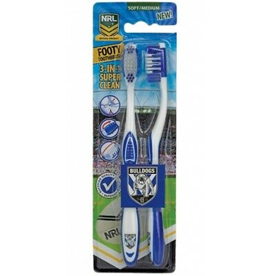 Canterbury Bulldogs Official NRL Toothbrush Twin Pack