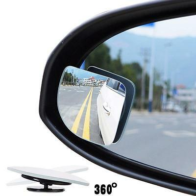 Safety 2X Adjustable Side Rearview Blind Spot Rear View Auxiliary Mirror For Car