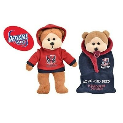 Molly the Melbourne Demons Bear 2015 - Official AFL Beanie Kid