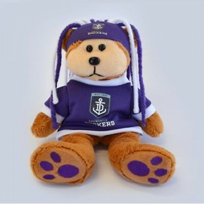 Fremantle Dockers Fanatic Bear - Official AFL Beanie Kid 21cm