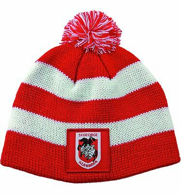 St George Illawarra Dragons Official NRL Chunky Knit Baby Infant Beanie