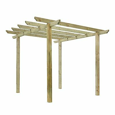 New Traditional Pergola Garden Arch Treated Wooden Garden Feature Arbour spikes