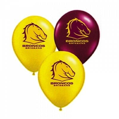 Brisbane Broncos Official NRL Pkt 25 Balloons Double Sided Print