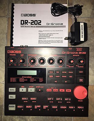 Boss Dr. Groove DR-202 Drum Machine/Bass Synth Rhythm 808 909 303 Sounds