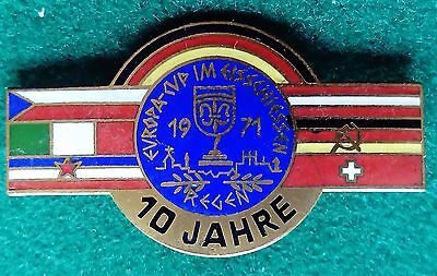 1971 European Cup in Eisschiessen (bit like curling) pin badge