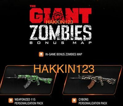 Call of Duty: Black Ops 3 Weaponized 115 & Cyborg Camo Packs DLC XBOX ONE & Map