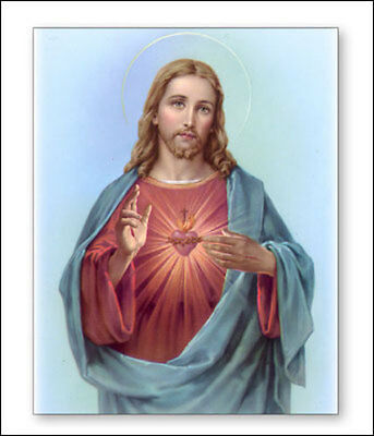 Sacred Heart Of Jesus Canvas Picture - Religious Candles And Statues Also Listed