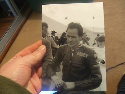 "7x5"" Photo Barry Sheene in Leathers, front view taken at Goodwood Race Meeting"