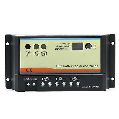 Regulador solar 20A DUO para 2 baterías independientes 12V/24V placa caravana au