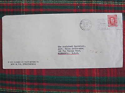 Australian 2 1/2d KGVl stamp cover used