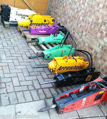 Atlas Copco 1.5t MINI DIGGER HYDRAULIC PECKER ROCK BREAKER MANY MORE AVAILABLE