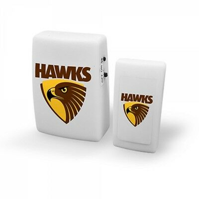 Hawthorn Hawks Official AFL Wireless Musical Door Bell FREE POST