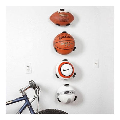 Wall Mounted Ball Claw Holder Mount Display Football Rack Organiser