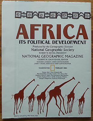 National Geographic US - Map / Karte - Africa Its political development - 1980