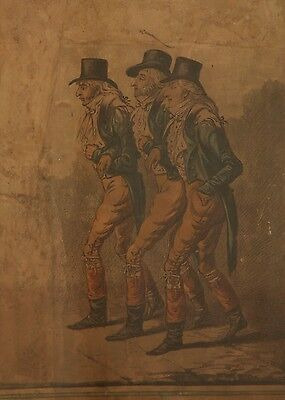 The Three Mr Wiggins's Etching by Gillray