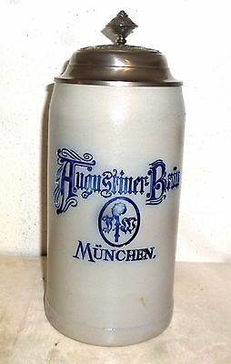 Augustiner Munich Oktoberfest 2016 salt-glazed lidded Masskrug German Beer Stein