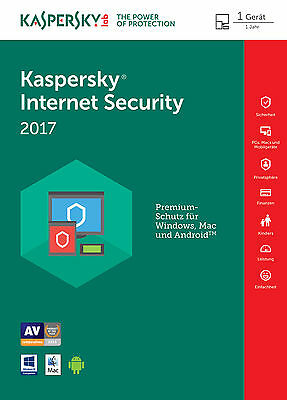 Kaspersky Internet Security 2017 multi-device 1PC ★ 1Jahr | Download | Deutsch