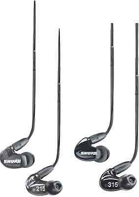 Shure SE215 SE315 Stereo Sound Isolating In-Ear Earphones Black with SN