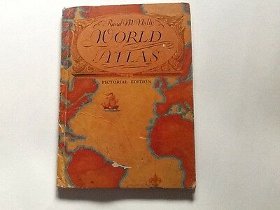Vintage 1935 Rand McNally World Atlas Pictorial Edition