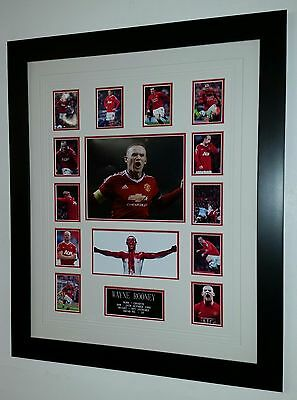* NEW Wayne Rooney of Manchester United Signed Photo Picture Autograph Display *